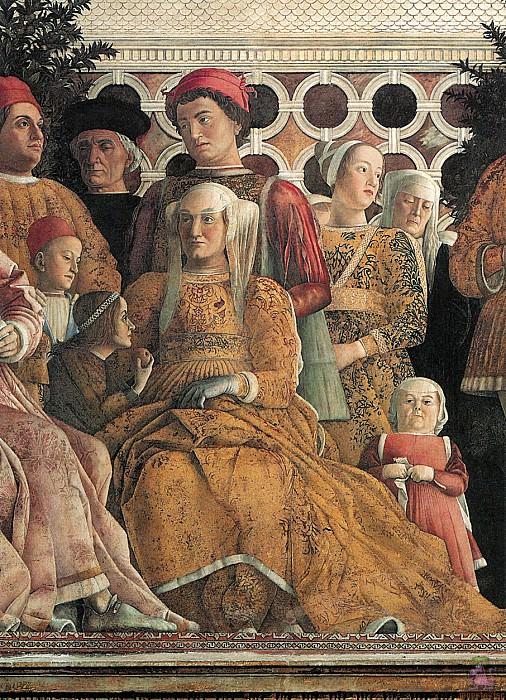 Camera degli Sposi (1465-1474) (detail-2). Andrea Mantegna