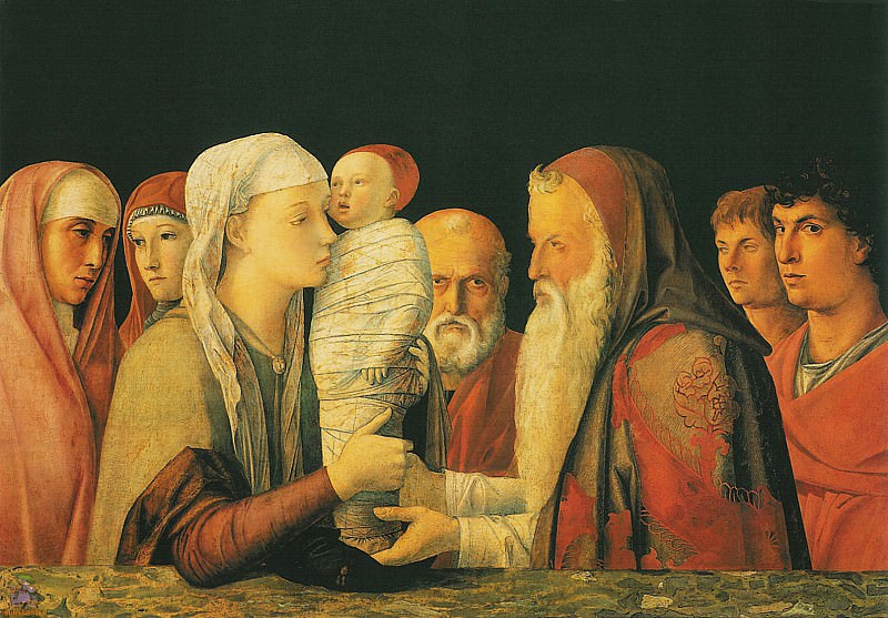 Presentation at the Temple 2 (1460). Andrea Mantegna