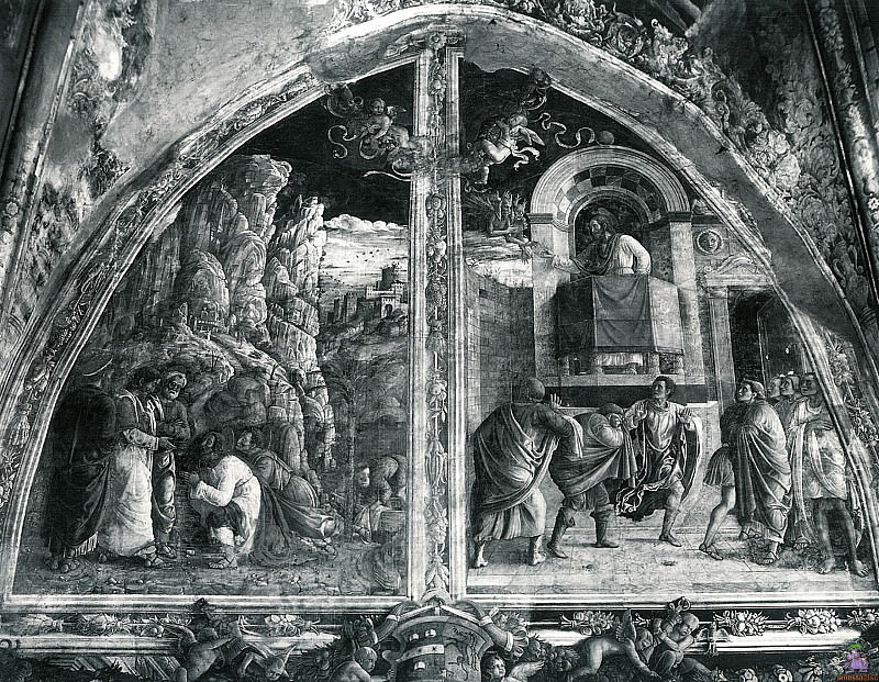 Scenes from the Life of St.James 1 (1448). Andrea Mantegna