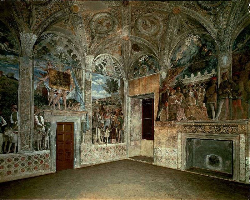 View of the West and North Walls. Andrea Mantegna
