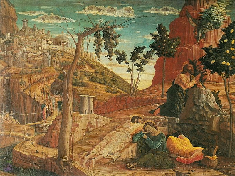 Christ on the Mount of Olives 3 (1460). Andrea Mantegna