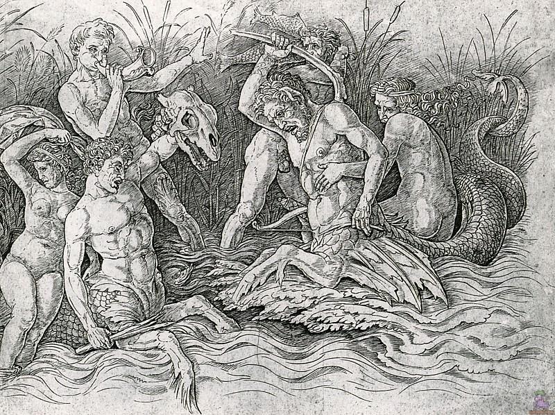 Битва морских богов (1470). Андреа Мантенья