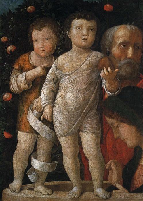 The holy family with St John. Andrea Mantegna