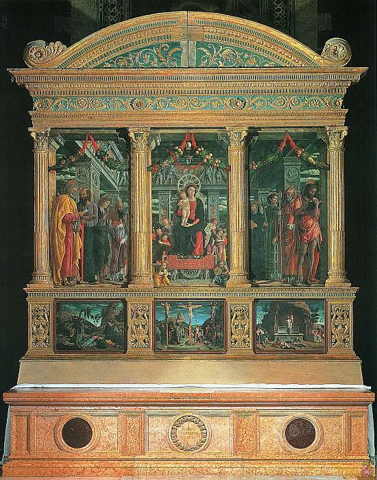Алтарь в церкви Сан-Дзено (1457-60). Андреа Мантенья