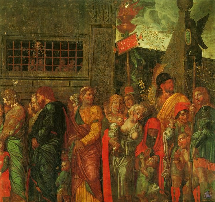Triumphs of Caeser (scene 7) (1500). Andrea Mantegna