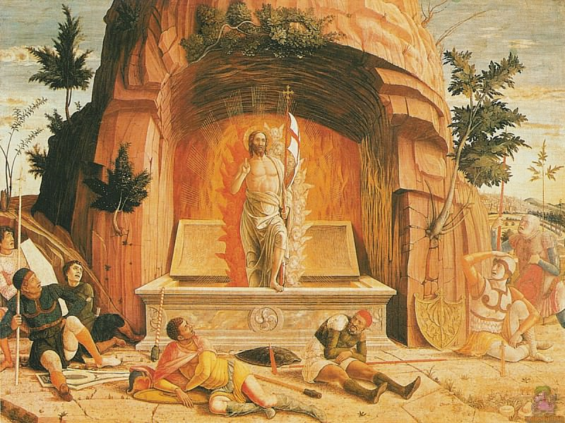Resurrection (1457-1460). Andrea Mantegna