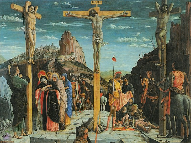 Crucifixion (1457-1460). Andrea Mantegna