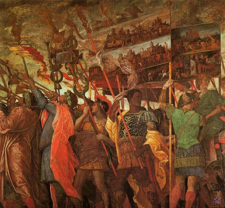 Triumphs of Caeser (scene 1) (1500). Andrea Mantegna