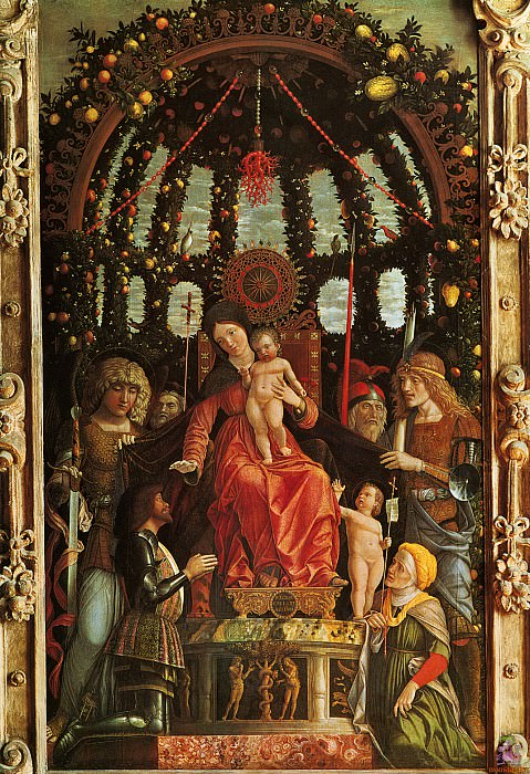 The Madonna of Victory (1496). Andrea Mantegna