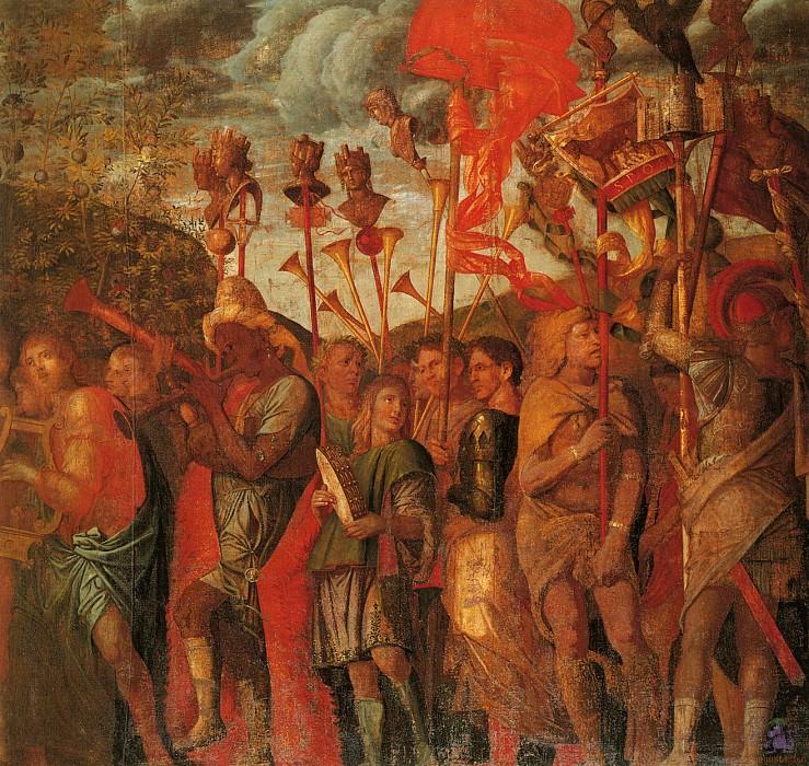 Триумфы Цезаря (сцена 8) (1500). Андреа Мантенья