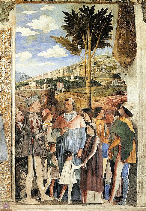 Камера дельи Спози, роспись (фрагмент) (1465-74). Андреа Мантенья