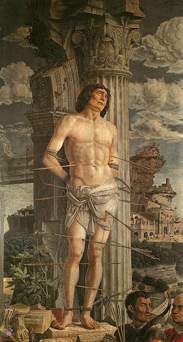 St.Sebastian (1480-1485). Andrea Mantegna