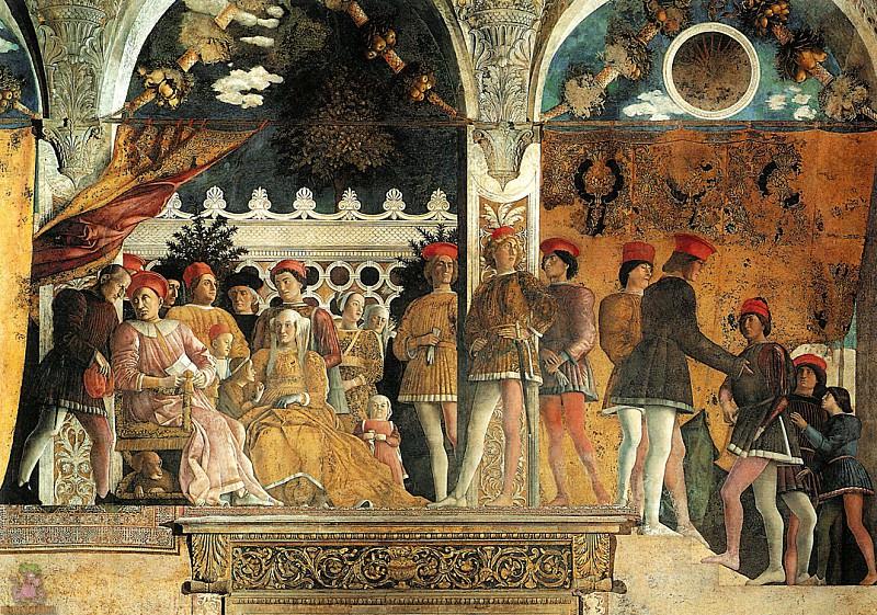 Camera degli Sposi (1465-1474) (detail-1). Andrea Mantegna