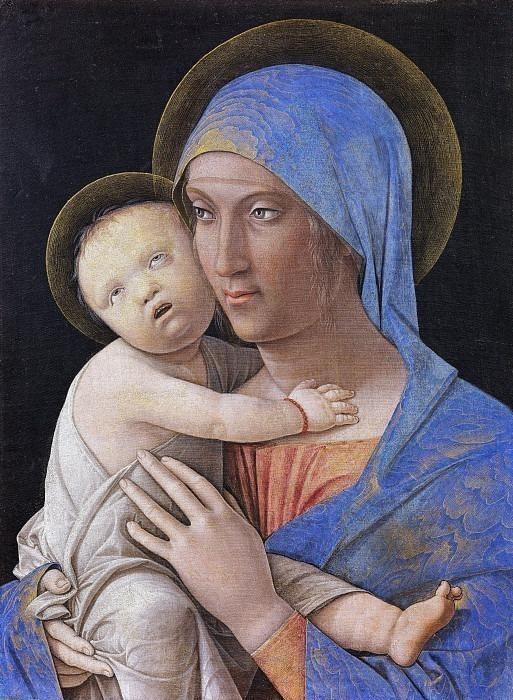 Virgin and Child. Andrea Mantegna