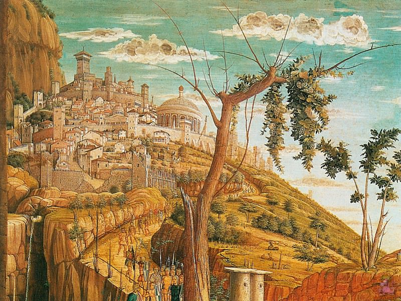 Christ on the Mount of Olives 3 (1460) (detail). Andrea Mantegna