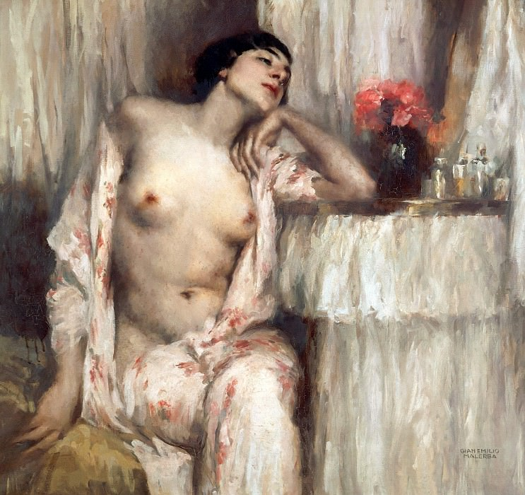 Woman at her toilette. Emilio Malerba