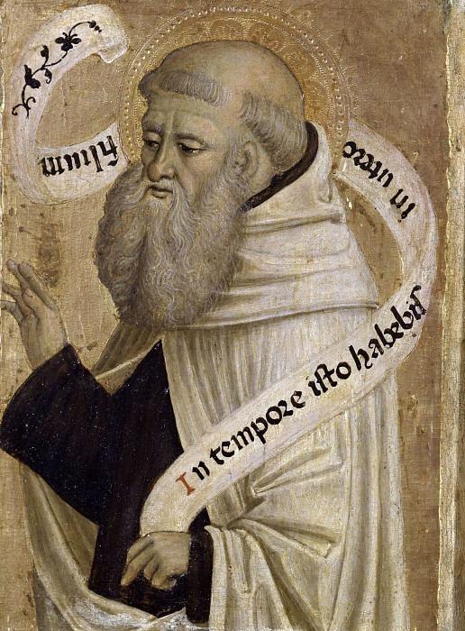 Святой Бенедикт (Полиптих Ромакла). Антонио Маринони (+Мастерская)