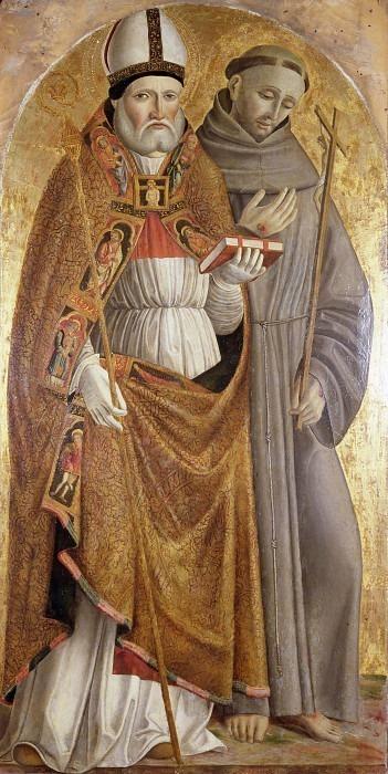 Святой Николай Барийский и Святой Франциск Ассизский (Полиптих Ромакла). Антонио Маринони (+ Мастерская)