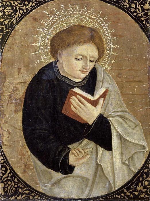 Святой Иоанн Богослов (Полиптих Ромакла). Антонио Маринони (+Мастерская)