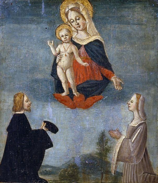 Мадонна с младенцем между Леонардо и Джулией Комендуно. Антонио Маринони (Мастерская)
