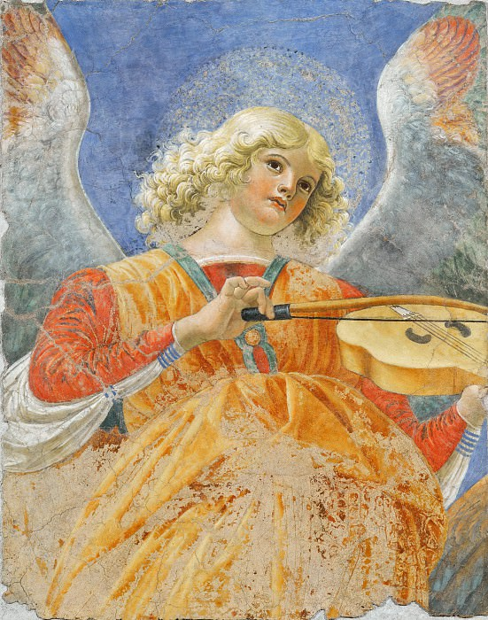 Angel Playing the Lute. Melozzo da Forli