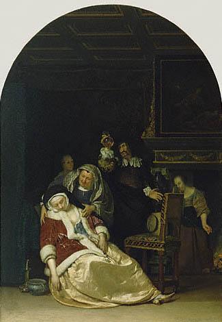 The Doctors Visit. Frans Van Mieris