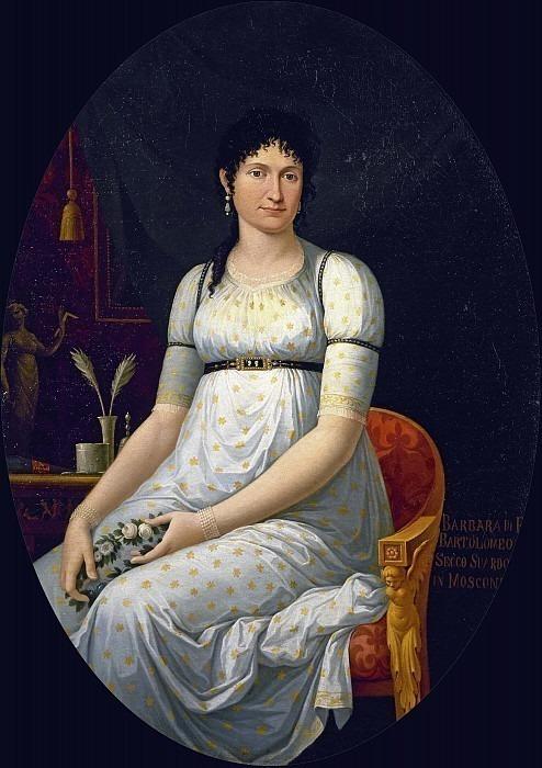 Графиня Барбара Секко Суардо в Москони. Теодоро Маттеини