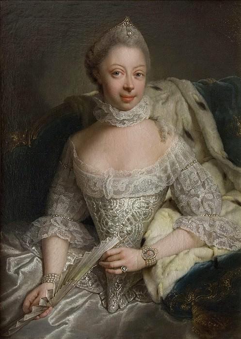Sofia Charlotta (1744-1818), Princess of Mecklenburg-Strelitz, Queen of England. Georg David Matthieu