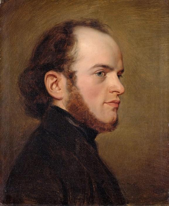Портрет Адольфа Менцеля в молодости. Фридрих Эдуард Майерхайм