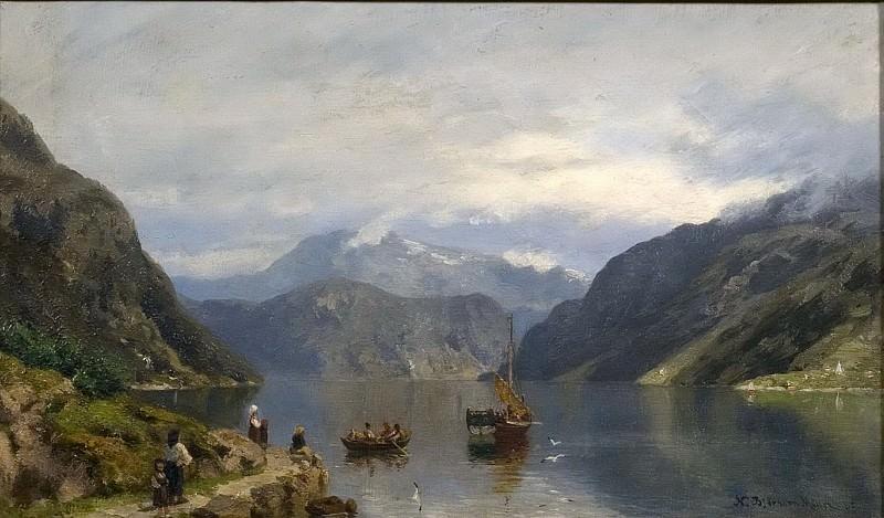 Fjord Landscape. Nils Bjørnsen Møller