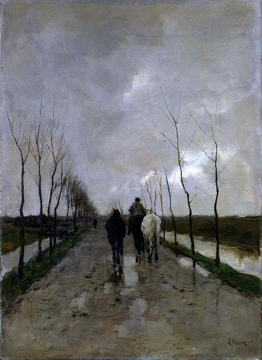 A Dutch Road. Anton Mauve
