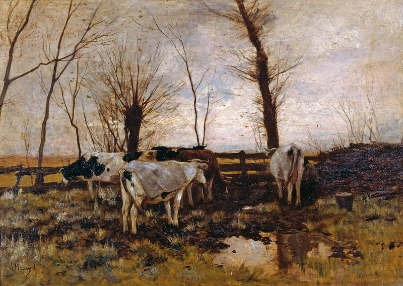 Коровы на пастбище. Антон Мауве