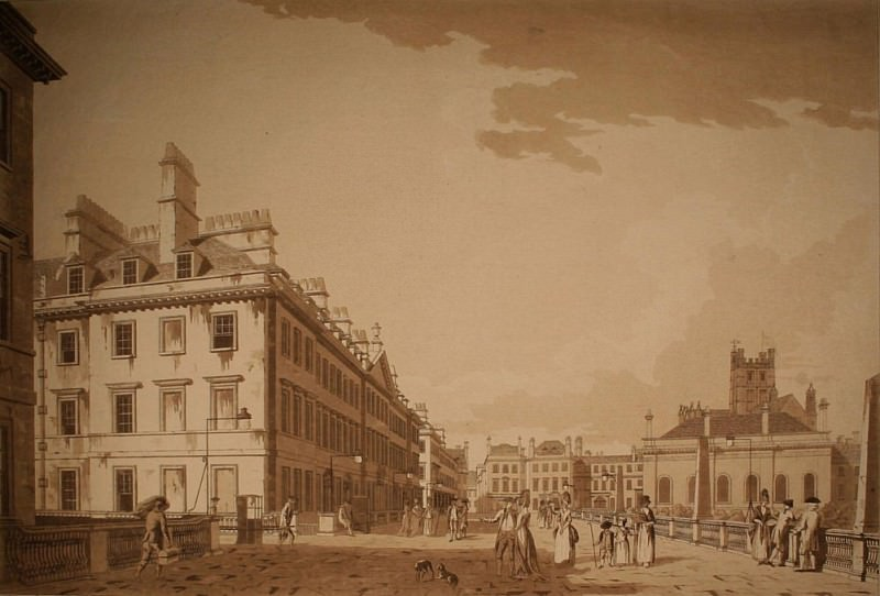 North Parade, Bath aquatint. Thomas Malton Jnr.