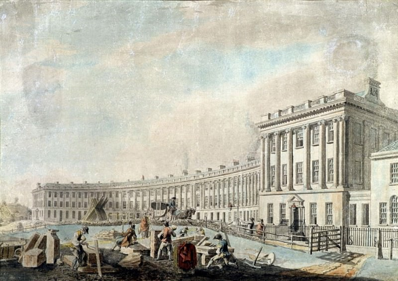 The Completion of the Royal Crescent, Bath