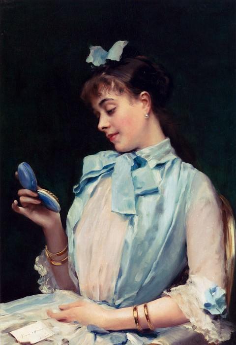 Portrait Of Aline Mason In Blue. Raimundo De Madrazo Y Garreta