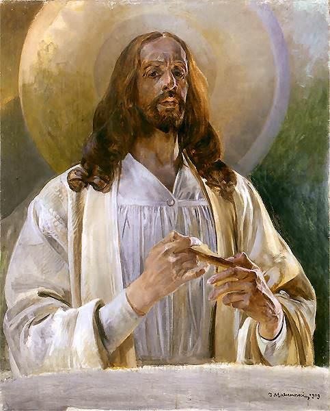Христос в Эммаусе, 1909. Яцек Мальчевский