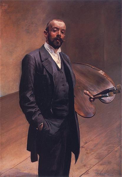 1892 Autoportret z paleta. Jacek Malczewski