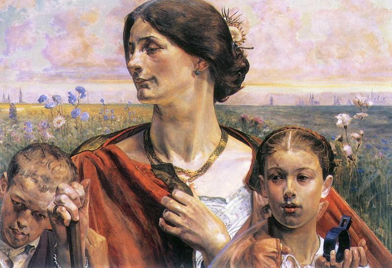 law fatherland art(triptych) fatherland. Jacek Malczewski