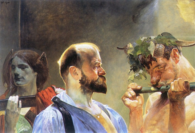 law fatherland art(triptych) law. Jacek Malczewski