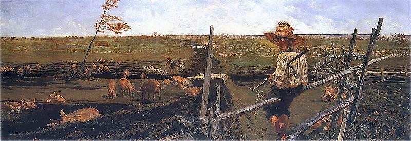 1890 Wspomnienie mlodosci. Jacek Malczewski