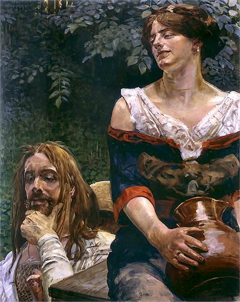1912 Chrystus i Samarytanka. Jacek Malczewski