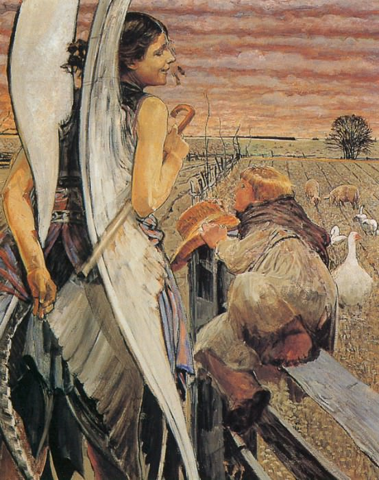 Angel and the LIttle Shepherd Boy-II. Jacek Malczewski