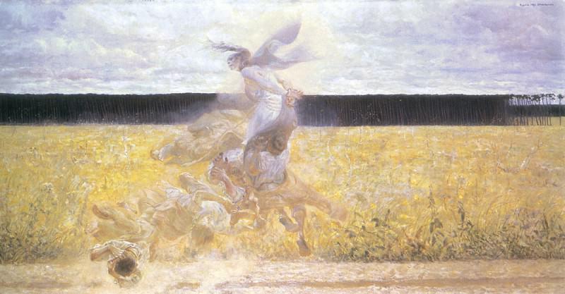 in the dust-cloud. Jacek Malczewski