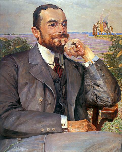 1912 Portret Ludwika Zelenskiego. Jacek Malczewski
