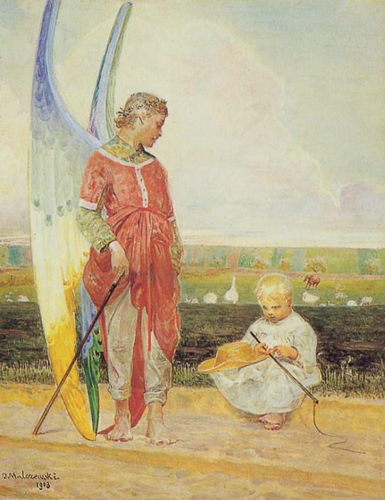 Ангел и маленький пастушонок. Яцек Мальчевский