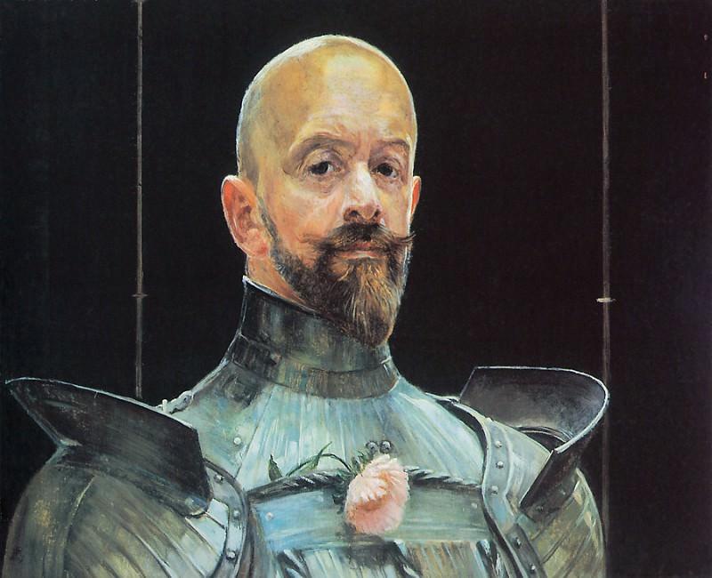 Selfportrait in Armour. Jacek Malczewski