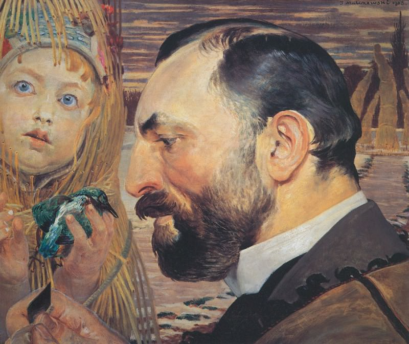Portrait of Feliks Jasienski. Jacek Malczewski