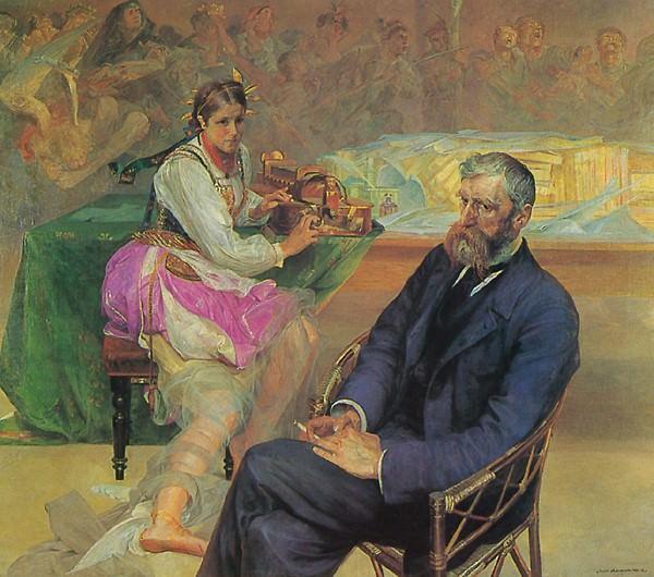 Портрет Адама Ашника с музой. Яцек Мальчевский