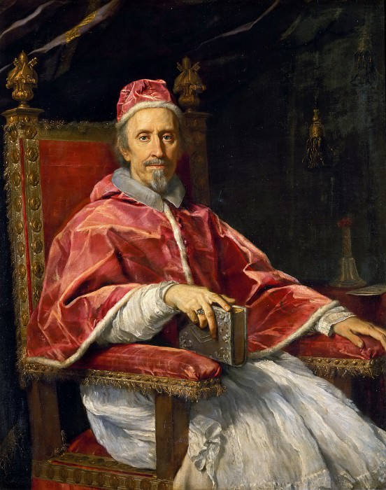 Portrait of Pope Clement IX. Carlo Maratti