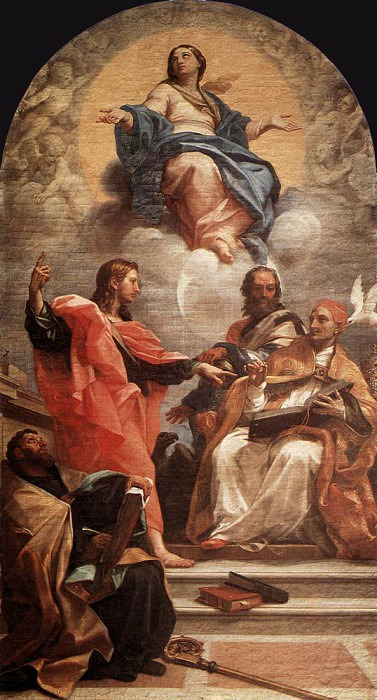 Успение и Отцы церкви, провожающие усопшую. Карло Маратта
